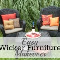 Easy Wicker Furniture Makeover; From Trash to Treasure; Furniture Redo | mybigfathappylife.com