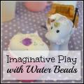 Imaginative Play with Water Beads, making ice cream, milkshakes and sundae | mybigfathappylife.com