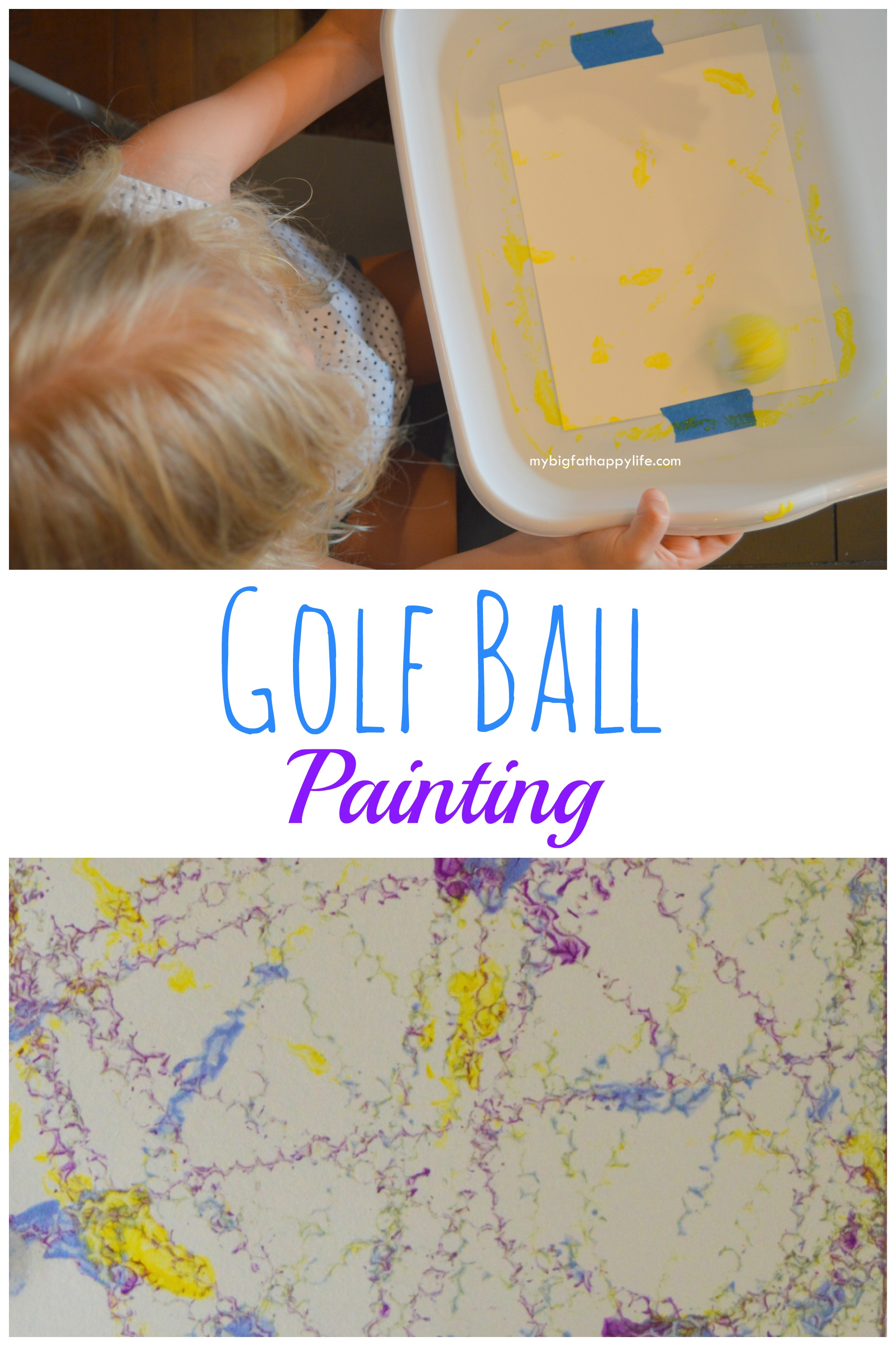 Superieur Golf Ball Painting, Kids Arts And Crafts | Mybigfathappylife.com