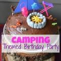 Camping Themed Birthday Party; kids birthday party | mybigfathappylife.com