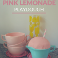 Pink Lemonade Playdough | mybigfathappylife.com