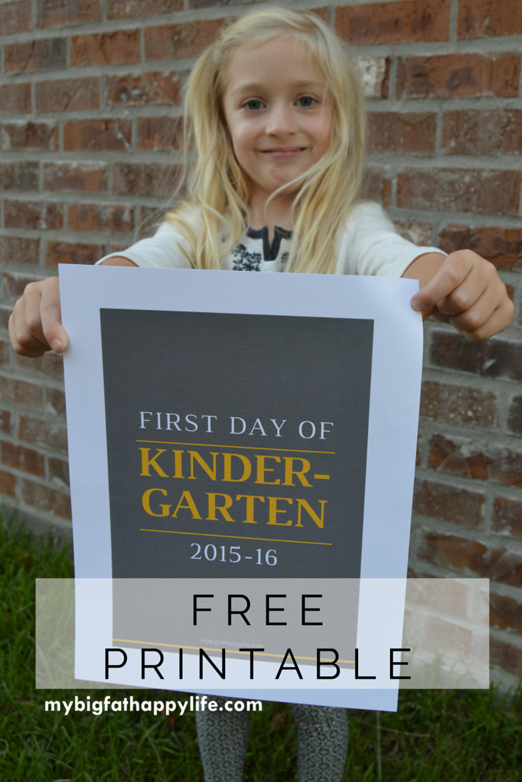 First Day Of College Picture: First Day Of School Free Printable 2015-16