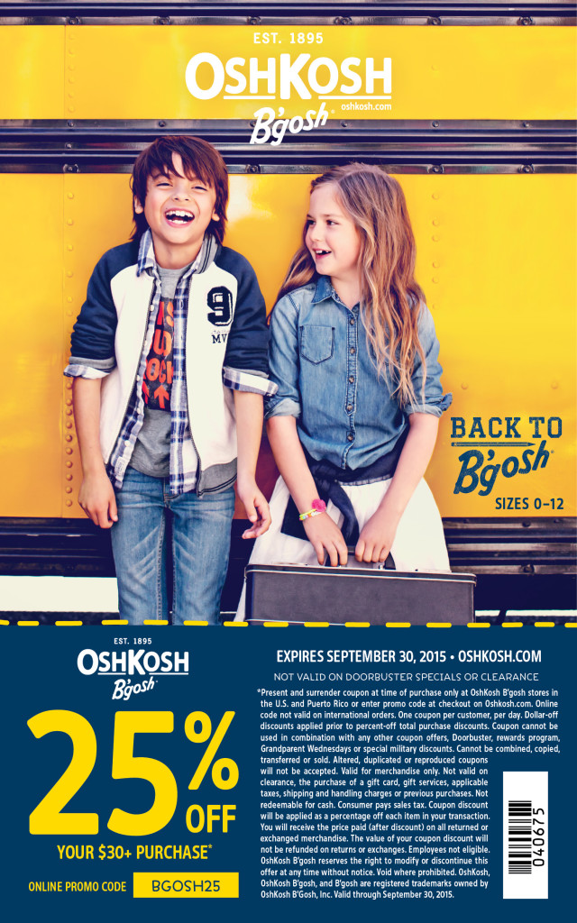 Big oshkosh coupons