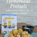 minions Homemade Pretzels with Sweet Cream Cheese Dipping Sauce - a perfect movie night snack | mybigfathappylife.com