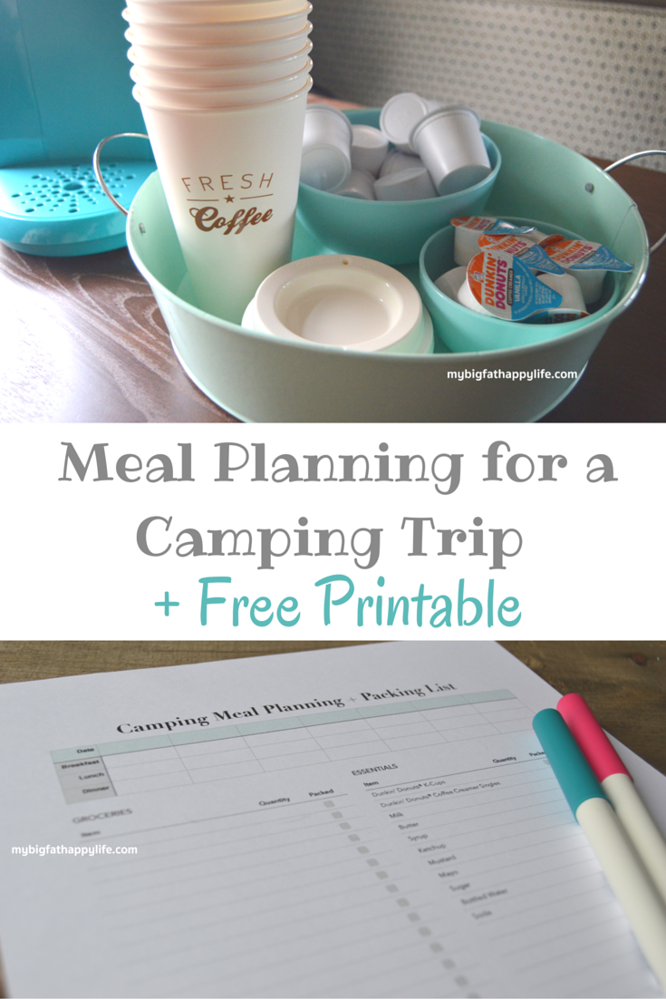 meal planning for a camping trip in a camper free printable my