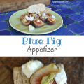 Blue Fig Appetizer; perfect for a summer afternoon or party | mybigfathappylife.com