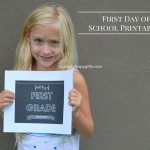 First Day of School Printables 2016