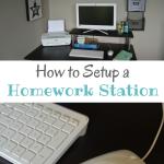 How to Setup a Homework Station