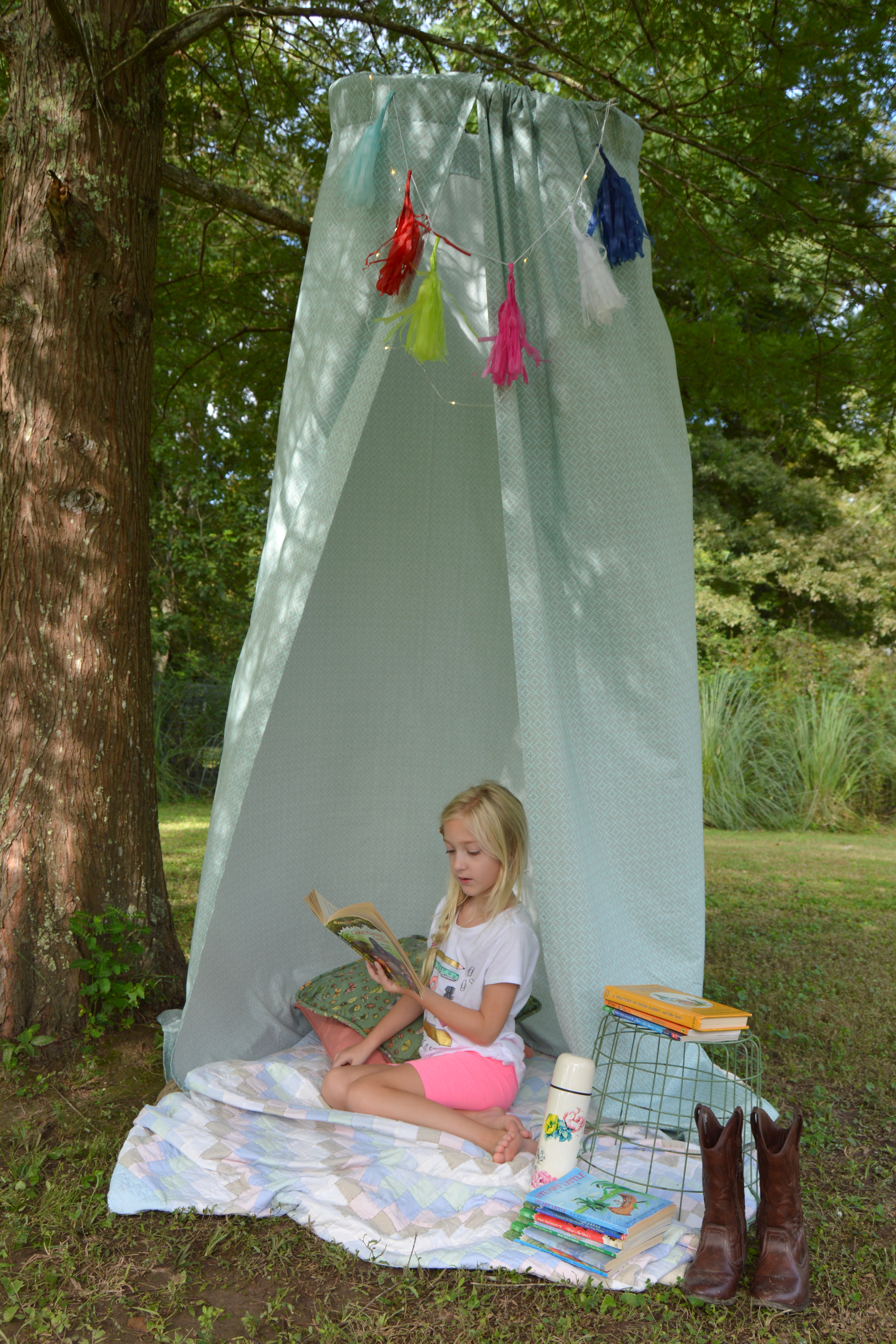 cheap for discount 5c6c5 deed2 DIY Hula Hoop Tent - My Big Fat Happy Life