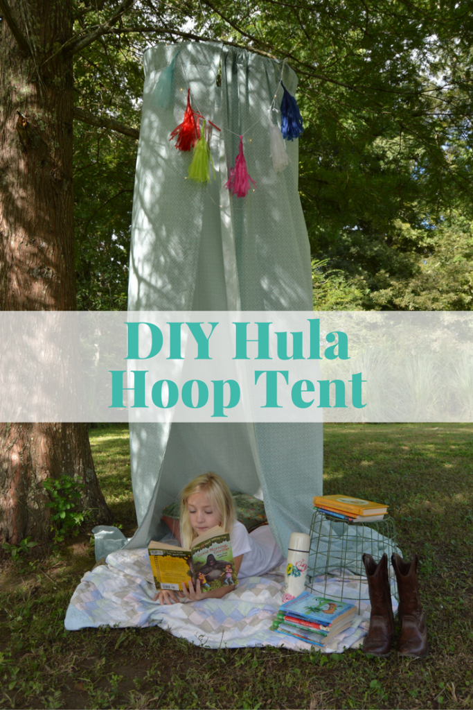 DIY Hula Hoop Tent #FreeToBe (ad) | mybigfathappylife.com