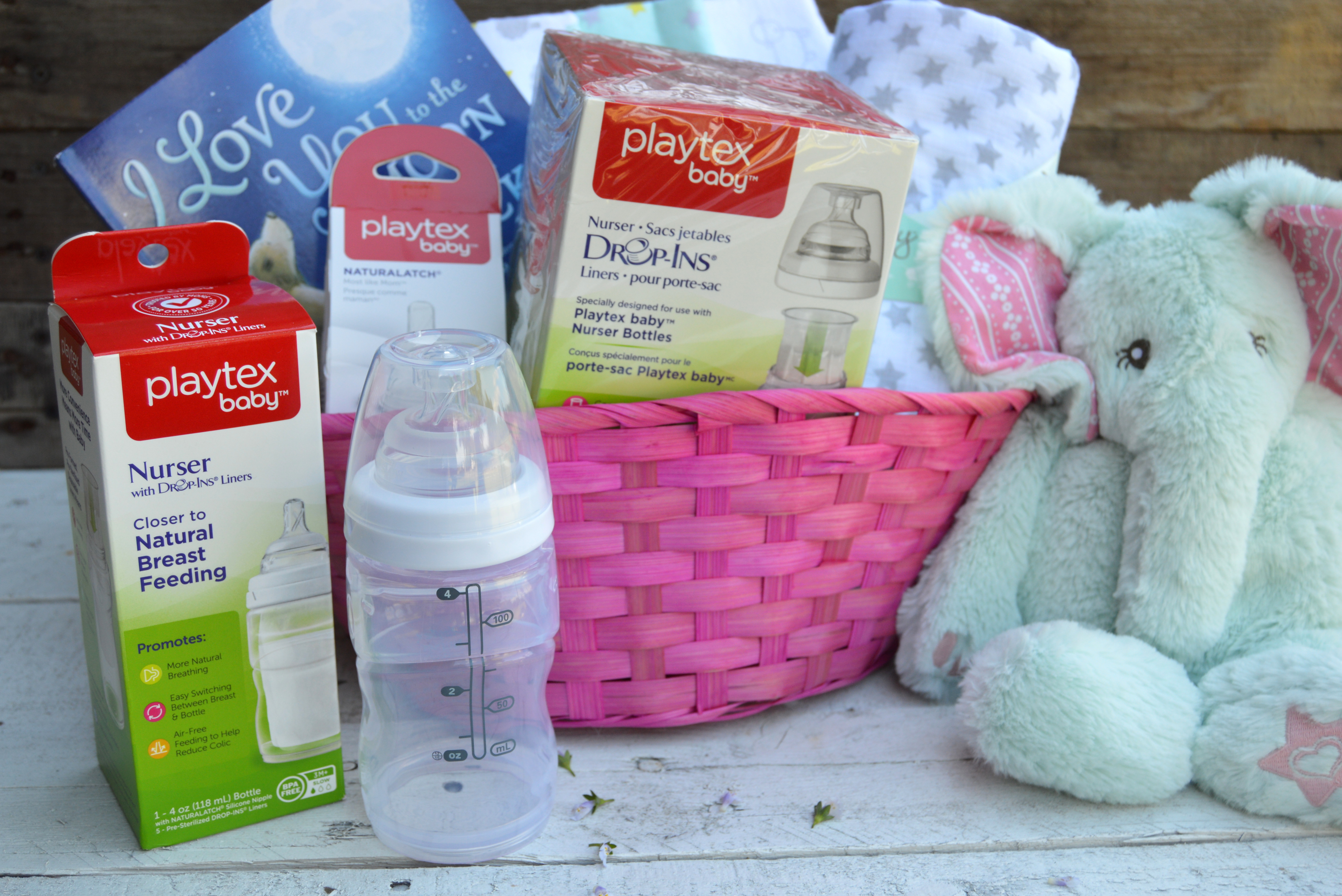 Baby shower gift basket my big fat happy life my favorite items for a baby shower gift basket for new moms betterbottles ad negle Image collections