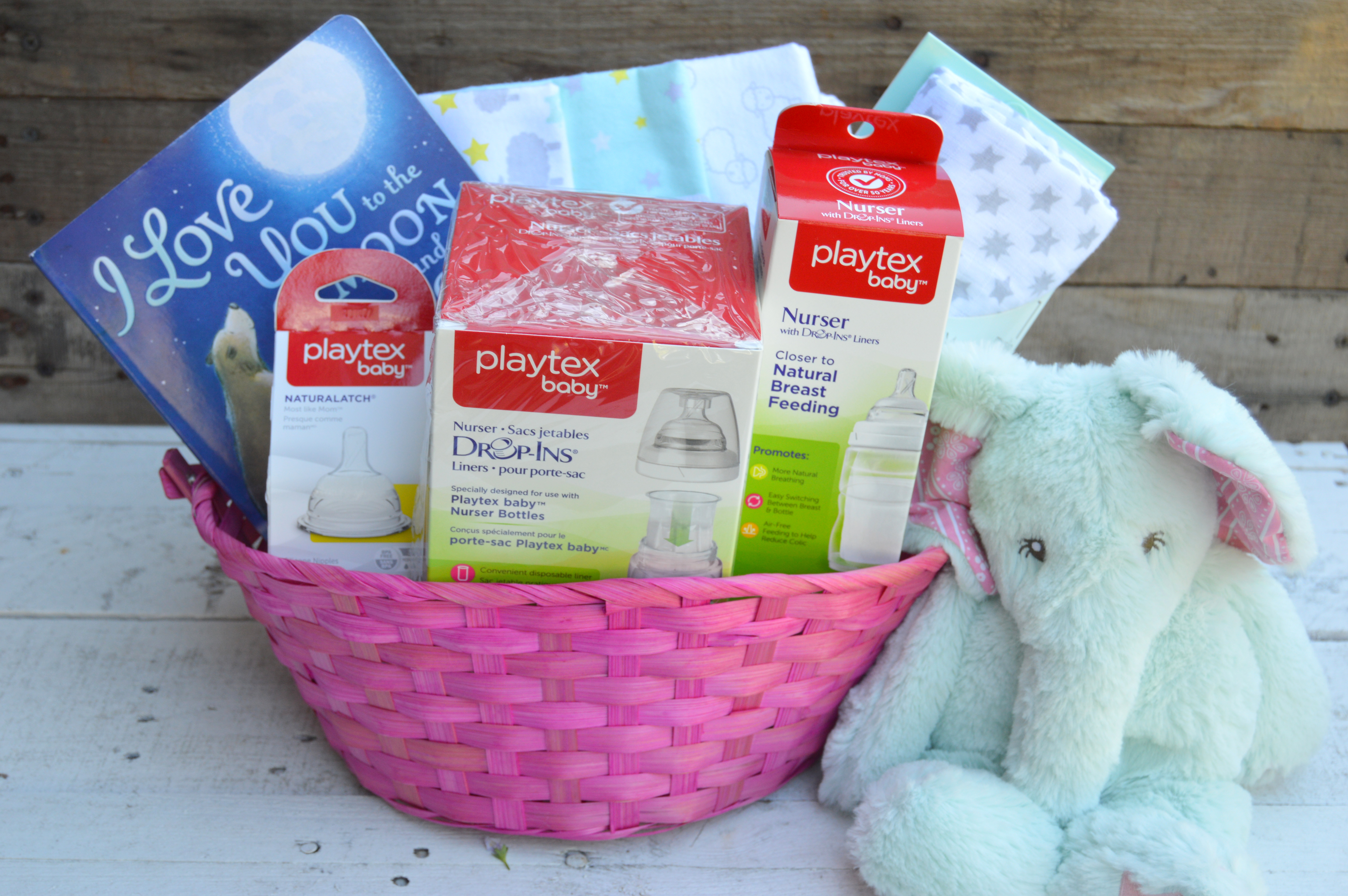 Baby shower gift basket my big fat happy life my favorite items for a baby shower gift basket for new moms betterbottles ad negle Images