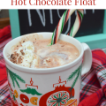 Peppermint Hot Chocolate Floats, a perfect treat for watching holiday movies #DelightfulMoments #recipe #ad | mybigfathappylife.com