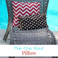 Change the look of your space by recovering your pillow using this One Hour Pillow instructions. The One Hour Pillow - mybigfathappylife.com