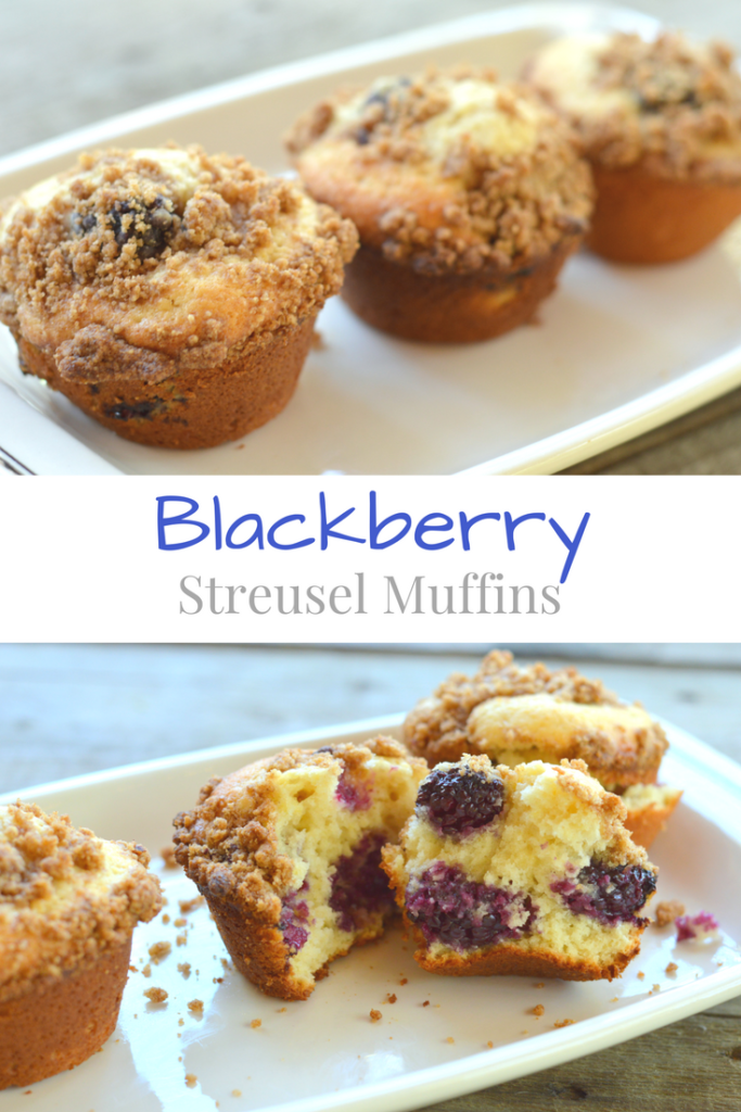 The Best Ever Blackberry Streusel Muffins are tangy and sweet!