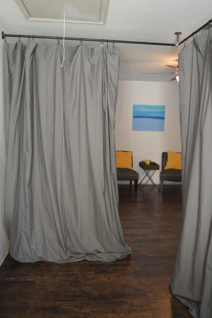 How To Divide Your Loft With Curtains My Big Fat Happy Life