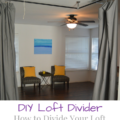 DIY Loft Divider; How to divide your loft using curtains | mybigfathappylife.com