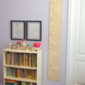Step by step direction on how to make a growth chart for your child that allows you to take their measurements with you when you move houses | mybigfathappylife.com
