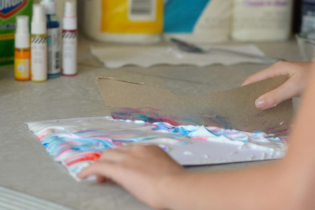 DIY Shaving Cream Marble Art Prints #UnleashTheCleanSquad #ad   mybigfathappylife.com