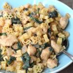 Dijon Chicken Pasta with Spinach