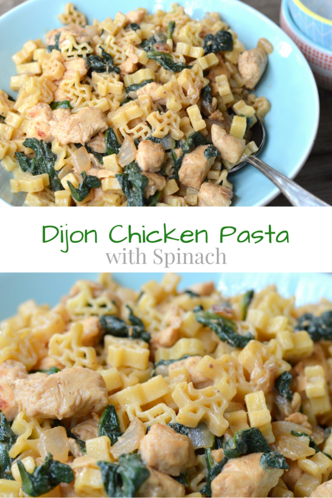 Dijon Chicken Pasta with Spinach #ad | mybigfathappylife.com
