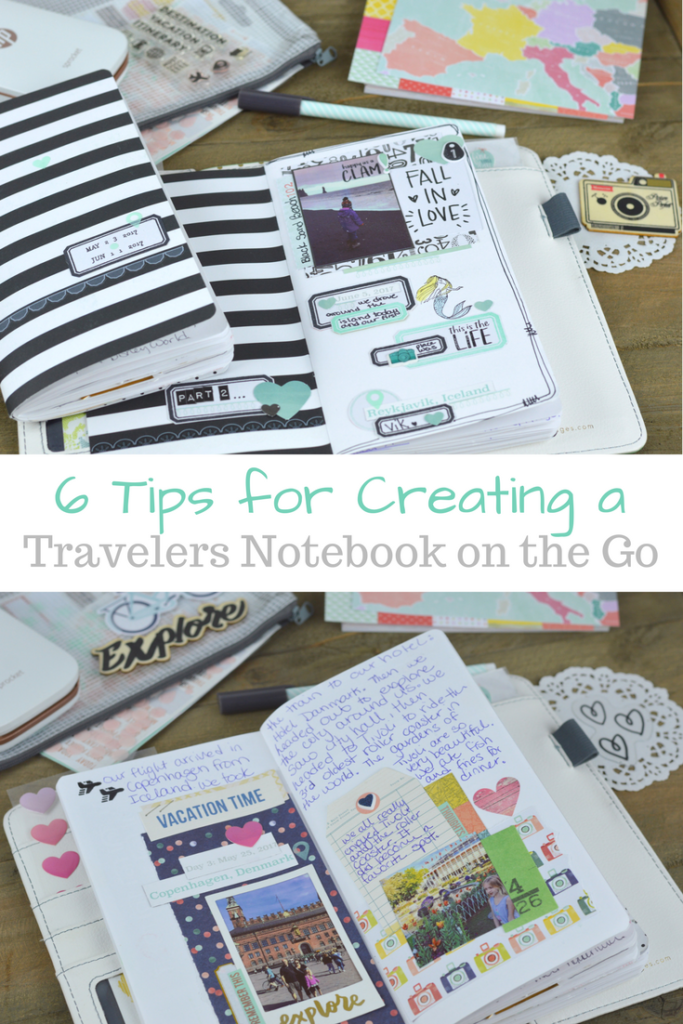 6 Tips for Creating a Travelers Notebook on the Go; travel journal tips | mybigfathappylife.com
