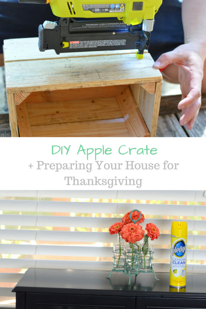 DIY Apple Crate + Preparing Your House for Thanksgiving #DIYHolidayWithSCJ #ad | mybigfathappylife.com