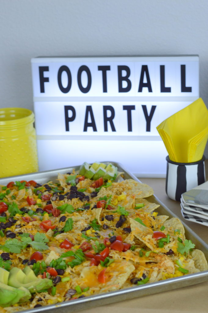 Sheet Pan Nachos are awesome for home-gating #ad #GameDayBundle #PlayPauseRefresh | mybigfathappylife.com