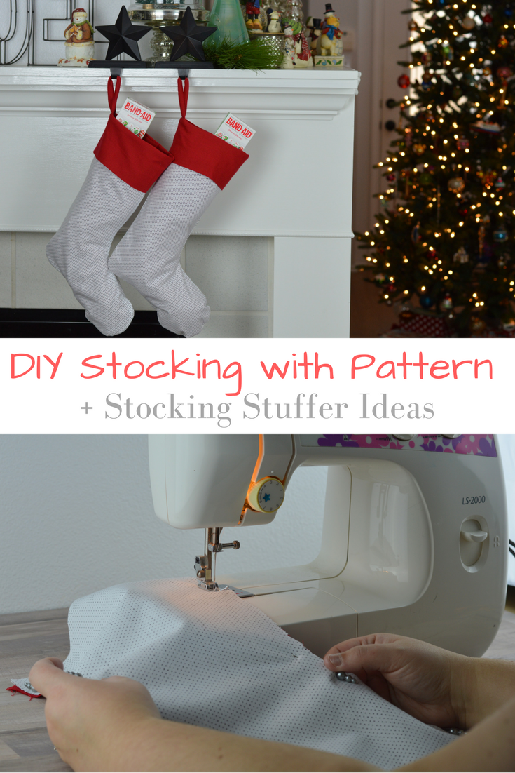 Diy Homemade Stocking With Pattern Stocking Stuffer Ideas
