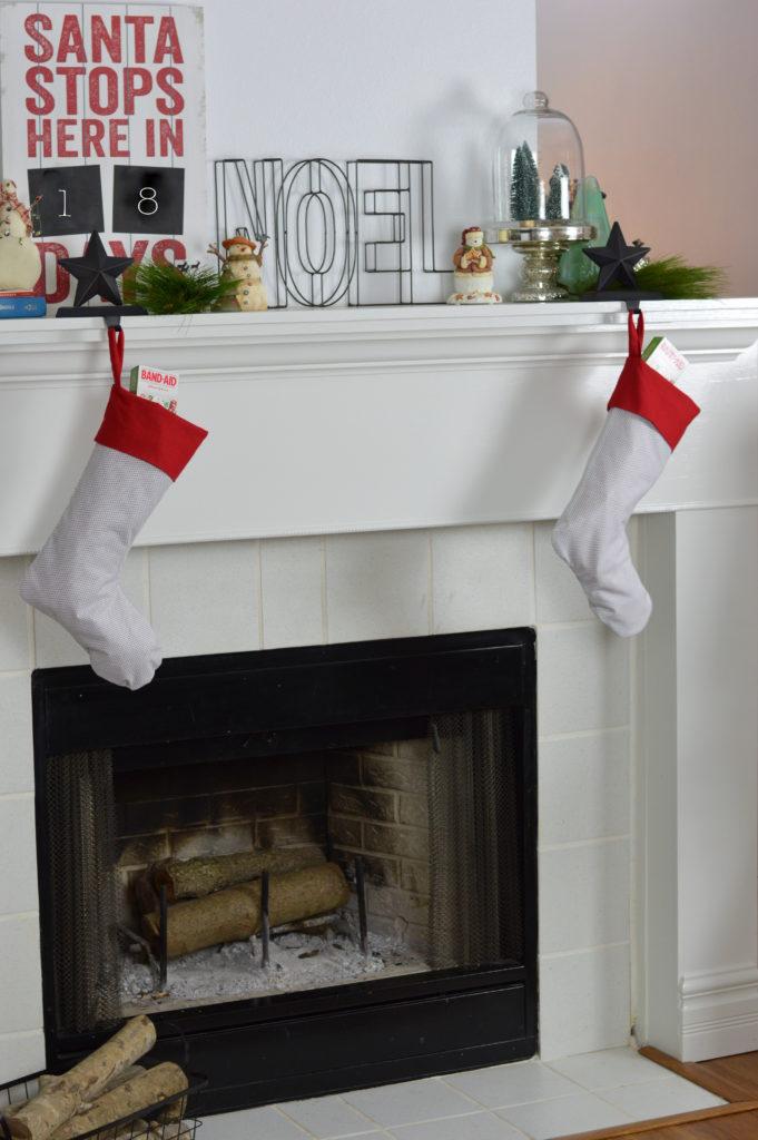 DIY Homemade Stocking with Pattern + Stocking Stuffer Ideas #StockedWithLove #ad | mybigfathappylife.com