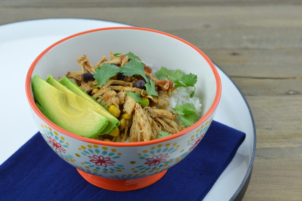Crockpot Chicken Burrito Bowls are easy to make, full of flavor, and has all the toppings.