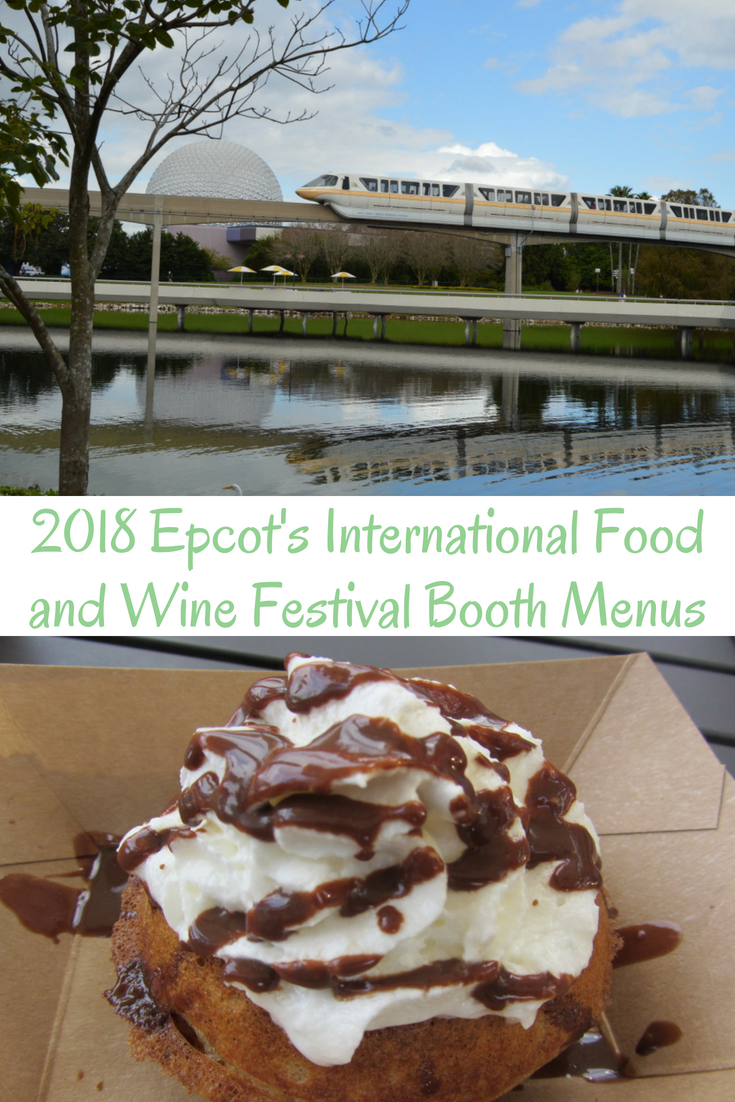 2018 Epcots International Food And Wine Festival Booth Menus My